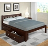 Finnegan Mission Full Size Bed - Slats, Dark Cappuccino - DONC-1510FCP