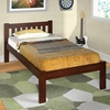 Finnegan Mission Twin Size Bed - Slats, Dark Cappuccino - DONC-1510TCP