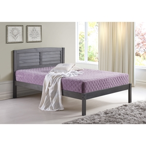 Full Louver Bed - Antique Gray