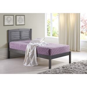 Twin Louver Bed - Antique Gray