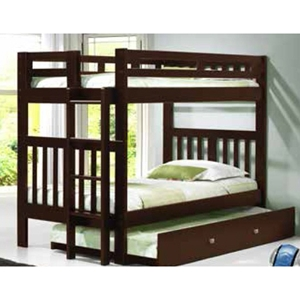 Twin Over Twin Bunk Bed - Cappuccino
