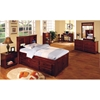 Joplin Slatted Top Mirror - Merlot Finish - DONC-2851