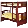 McAllister Twin Over Twin Bunk Bed - Slats, Bead Board, Merlot - DONC-2810M