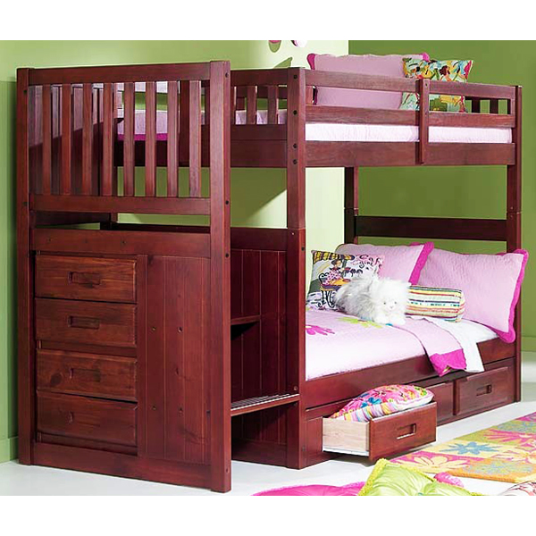 Bed Over Stair Box Google Search: Orville Twin Over Twin Staircase Bunk Bed