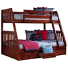McAllister Twin Over Full Bunk Bed - Slats, Bead Board, Merlot - DONC-2818M