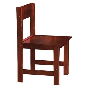 Joplin Wooden Chair - Merlot Finish