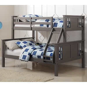 Twin Over Full Princeton Bunk Bed - Slate Gray