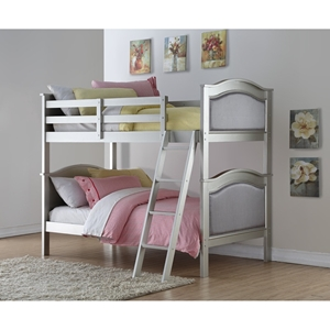 Twin Over Twin Hollywood Bunk Bed - Platinum Silver