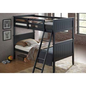 Panel Bunk Bed - Twin Over Twin, Black