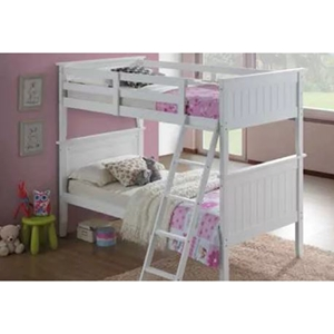 Panel Bunk Bed - Twin Over Twin, White