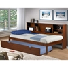 Cherokee Side Bookcase Storage Bed - Light Espresso - DONC-411TE