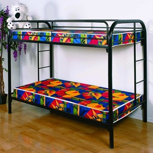 Keagan Twin Over Twin Metal Bunk Bed - Gloss Black