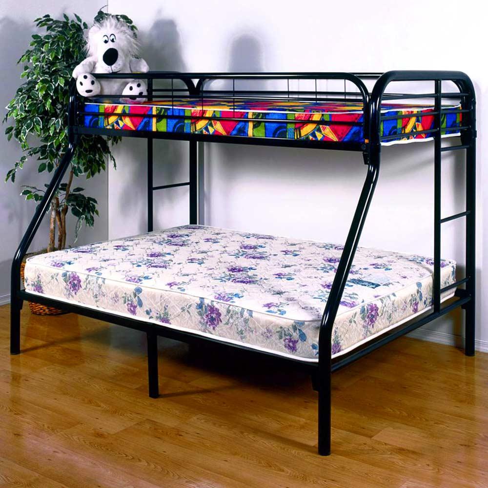 Keagan Twin Over Full Metal Bunk Bed Gloss Black