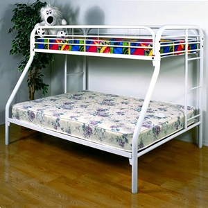 Keagan Twin Over Full Metal Bunk Bed - Gloss White