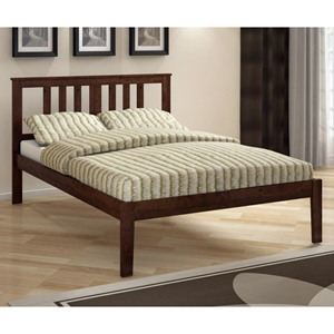 Venice Full Size Bed - Slatted Headboard, Dark Cappuccino