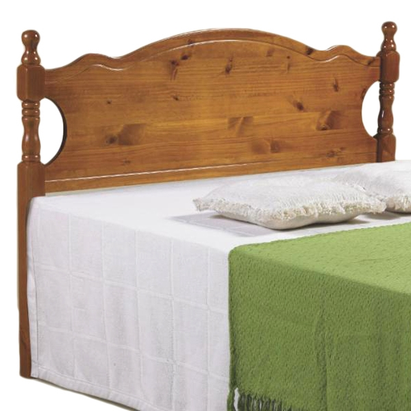 Annesley Wood Panel Full Headboard - Scalloped Rail, Honey - DONC-700FH