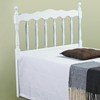 Annalise Spindle Headboard - Scalloped Rail, White - DONC-704-W