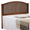 Antonio Mission Style Full Headboard - Curved Rail, Light Espresso - DONC-708FE