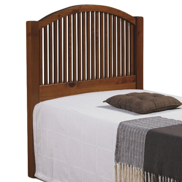 Antonio Mission Style Twin Headboard - Curved Rail, Light Espresso - DONC-708TE