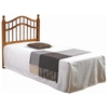 Arabesque Twin Size Headboard - Double Camelback Rail, Honey - DONC-710TH