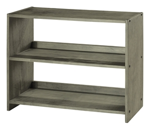 Louver Small Bookcase - Antique Gray