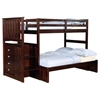 Orville Twin Over Full Staircase Bunk Bed - Chest, Dark Cappuccino - DONC-820CP-TT-800ECP