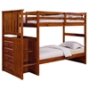 Orville Twin Over Twin Staircase Bunk Bed - Chest, Light Espresso - DONC-820E-TT