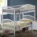 Cecile Arched Mission Twin Bunk Bed - White, Mattress Ready - DONC-902WH-TT