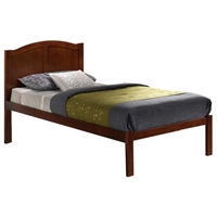 Belvedere Twin Arched Panel Platform Bed - Molding, Walnut