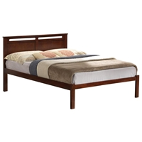 Brielle Slotted Platform Bed - Molding, Walnut Finish