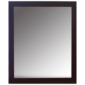 Darian Rectangular Mirror - Wooden Frame, Dark Espresso