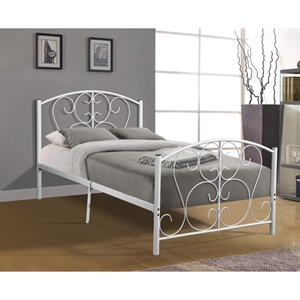Metal Bed - Twin, White
