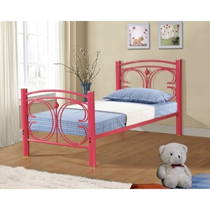 Metal Bed - Hot Pink