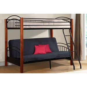 Futon Bunk Bed - Cherry and Black