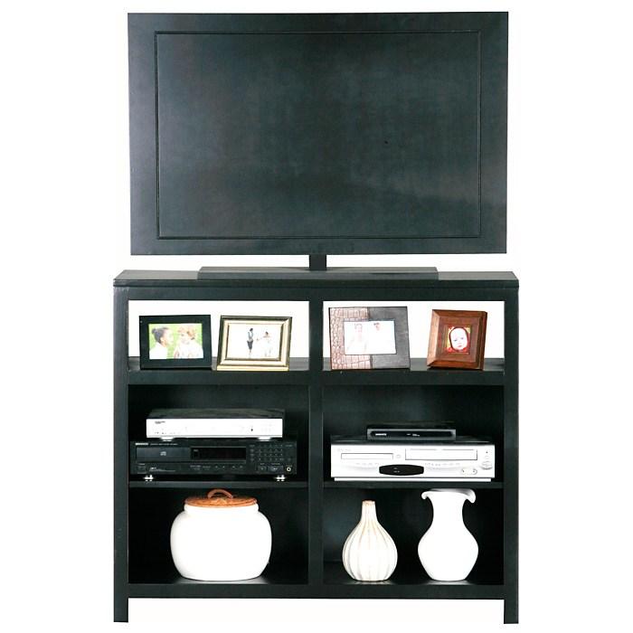 Adler Tall Birch Wood Tv Stand Open Shelves Dcg Stores