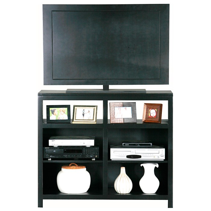 Adler Tall Birch Wood Tv Stand Open Shelves Dcg Stores