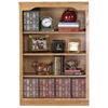 "Classic Oak Bookcase - Curved Molding, 4 Shelves, 48"" Tall - EGL-14348"