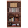 "Classic Oak Bookcase - Curved Molding, 5 Shelves, 60"" Tall - EGL-14360"