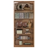"Classic Oak Bookcase - Curved Molding, 6 Shelves, 72"" Tall - EGL-14372"