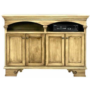 "American Premiere 58"" Media Console - 2 Shelves, 4 Doors"