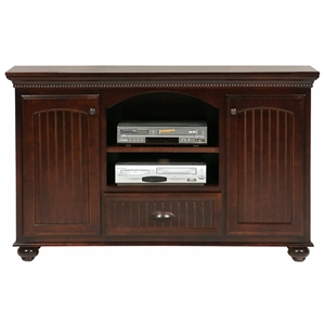 American Premiere 2-Door TV Cabinet - Carved Rope, Bun Feet