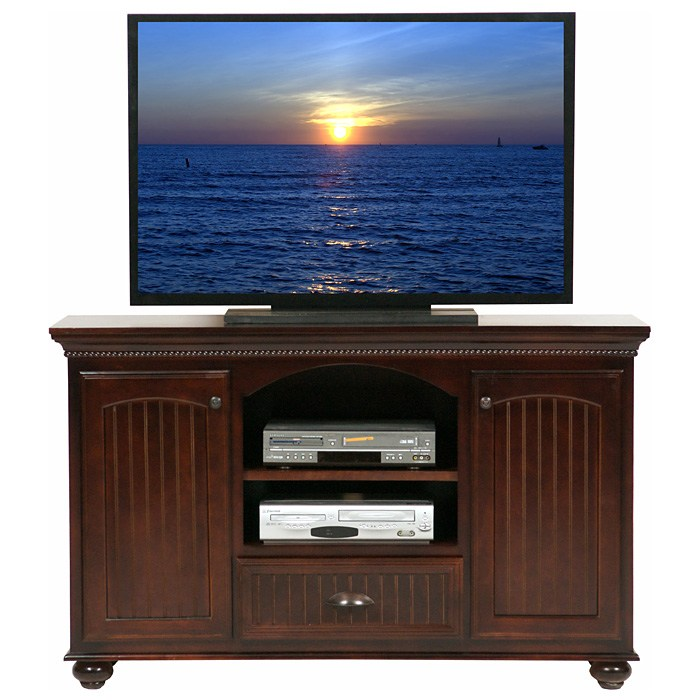 American Premiere 2-Door TV Cabinet - Carved Rope, Bun Feet - EGL-16156