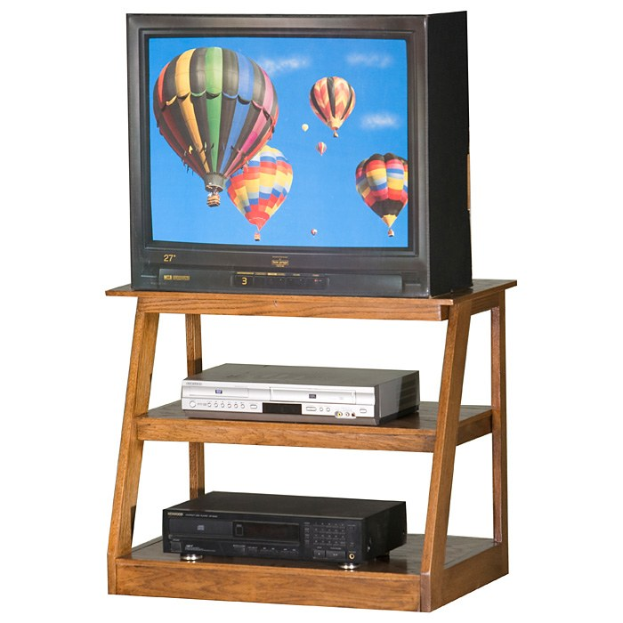 "Adler 30"" Oak Wood TV Stand - Open Back - EGL-23930"