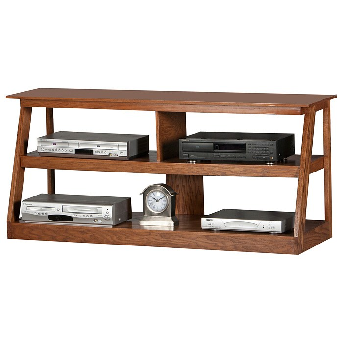 Adler 55 Quot Oak Wood Tv Stand Open Back Dcg Stores