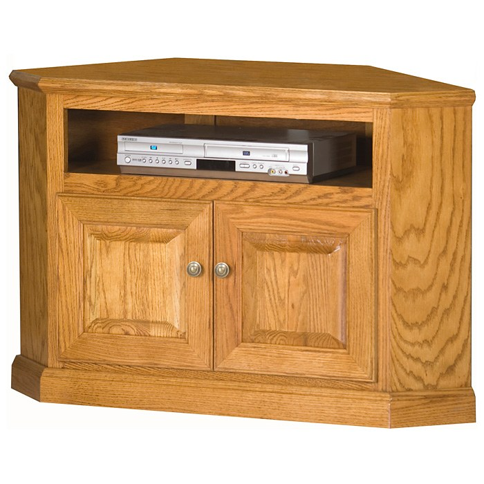"Classic Oak 41"" Corner TV Cabinet - 1 Shelf, 2 Doors - EGL-46730"