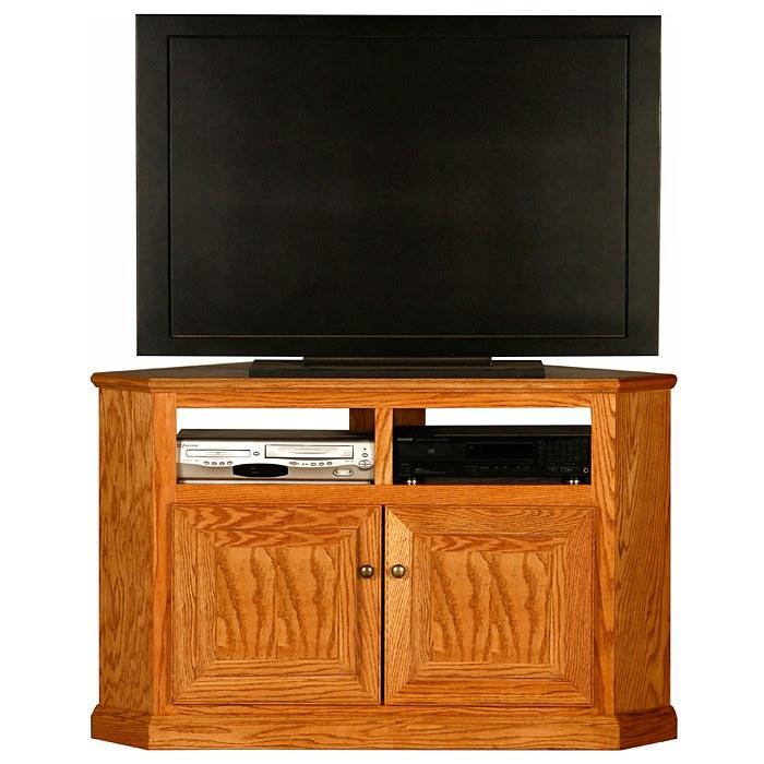 Classic Oak 50 Quot Tall Corner Tv Cabinet 2 Shelves 2