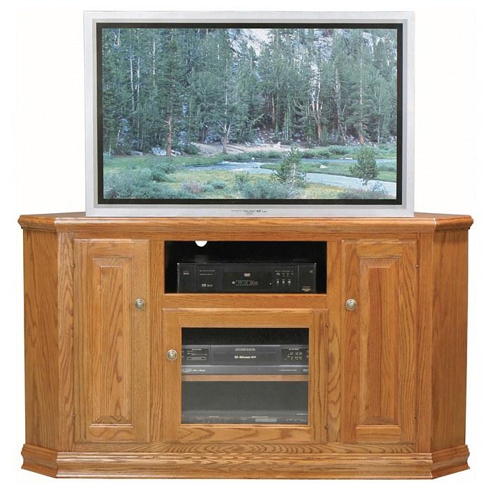 Classic Oak 56 Quot Tall Corner Tv Cabinet 1 Open Shelf 3