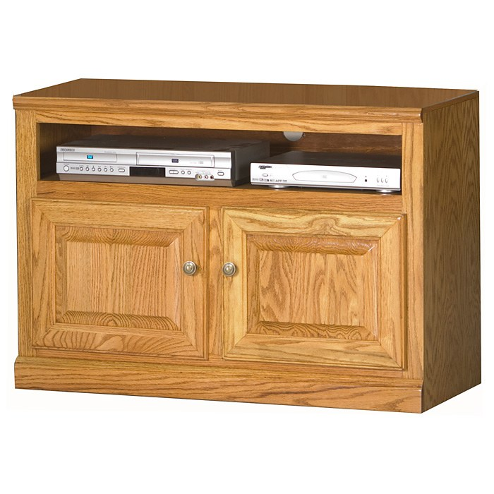"Classic Oak 39"" TV Cabinet - 1 Shelf, 2 Doors"