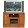"Classic Oak Thin 45"" TV Cabinet - 1 Open Shelf, 3 Doors - EGL-46847"