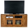 "Heritage Thin 66"" TV Console - Bead Board, Glass, Oak Wood - EGL-47566"